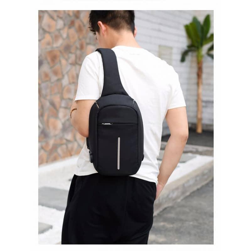 Городской рюкзак-антивор Bobby Mini с защитой от карманников и USB-портом для зарядки: водонепроницаемый, защита от порезов 216034