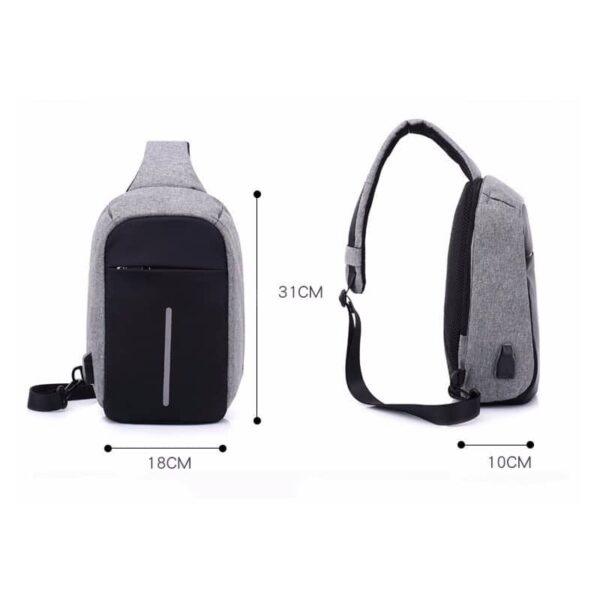 40591 - Городской рюкзак-антивор Bobby Mini с защитой от карманников и USB-портом для зарядки: водонепроницаемый, защита от порезов