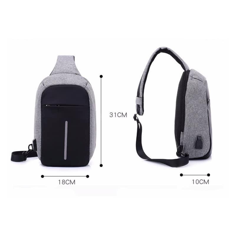 Городской рюкзак-антивор Bobby Mini с защитой от карманников и USB-портом для зарядки: водонепроницаемый, защита от порезов 216035