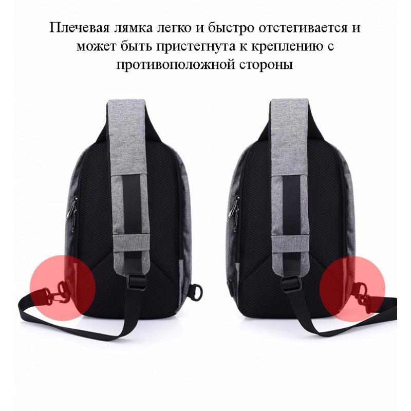 Городской рюкзак-антивор Bobby Mini с защитой от карманников и USB-портом для зарядки: водонепроницаемый, защита от порезов 216036