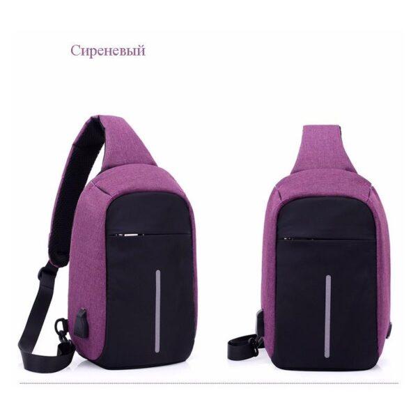40593 - Городской рюкзак-антивор Bobby Mini с защитой от карманников и USB-портом для зарядки: водонепроницаемый, защита от порезов
