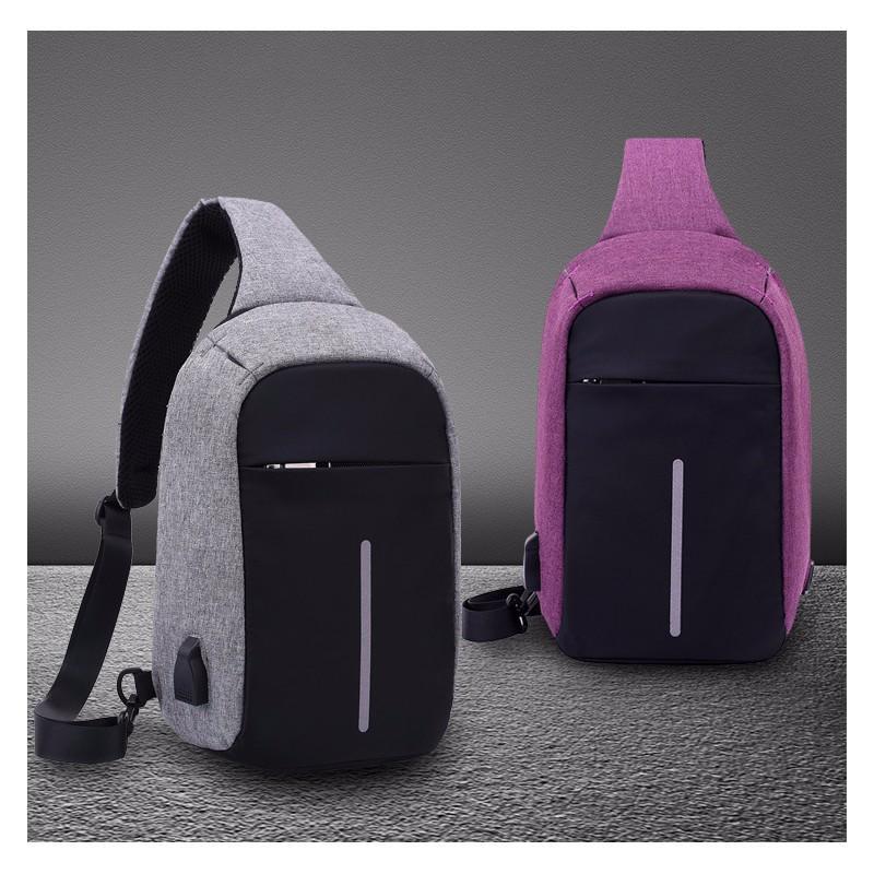 Городской рюкзак-антивор Bobby Mini с защитой от карманников и USB-портом для зарядки: водонепроницаемый, защита от порезов 216038