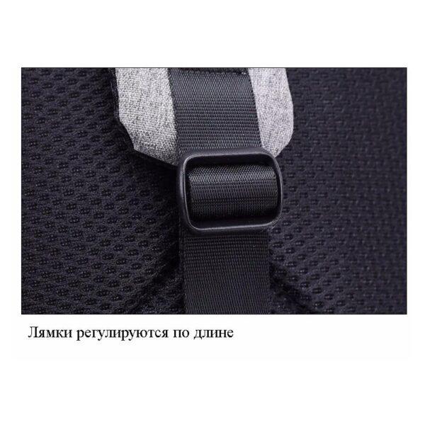 40595 - Городской рюкзак-антивор Bobby Mini с защитой от карманников и USB-портом для зарядки: водонепроницаемый, защита от порезов