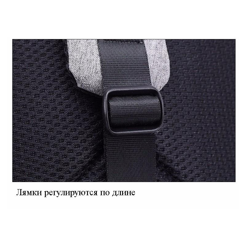 Городской рюкзак-антивор Bobby Mini с защитой от карманников и USB-портом для зарядки: водонепроницаемый, защита от порезов 216039