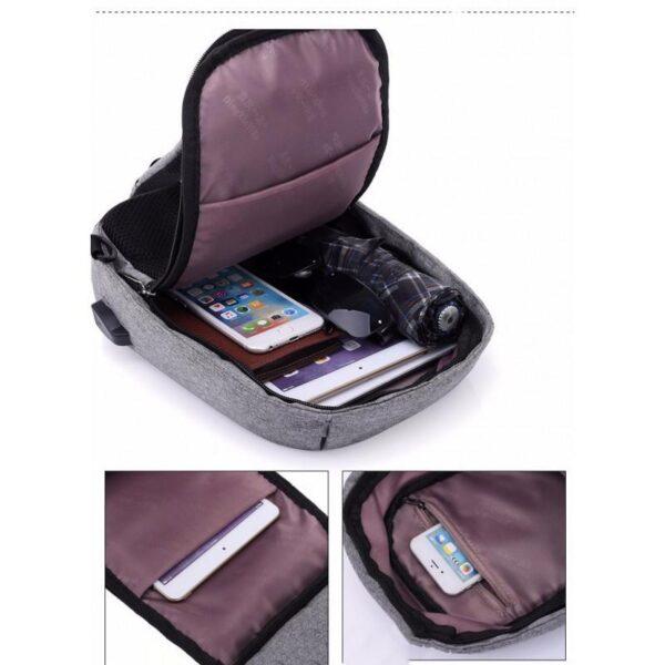 40596 - Городской рюкзак-антивор Bobby Mini с защитой от карманников и USB-портом для зарядки: водонепроницаемый, защита от порезов