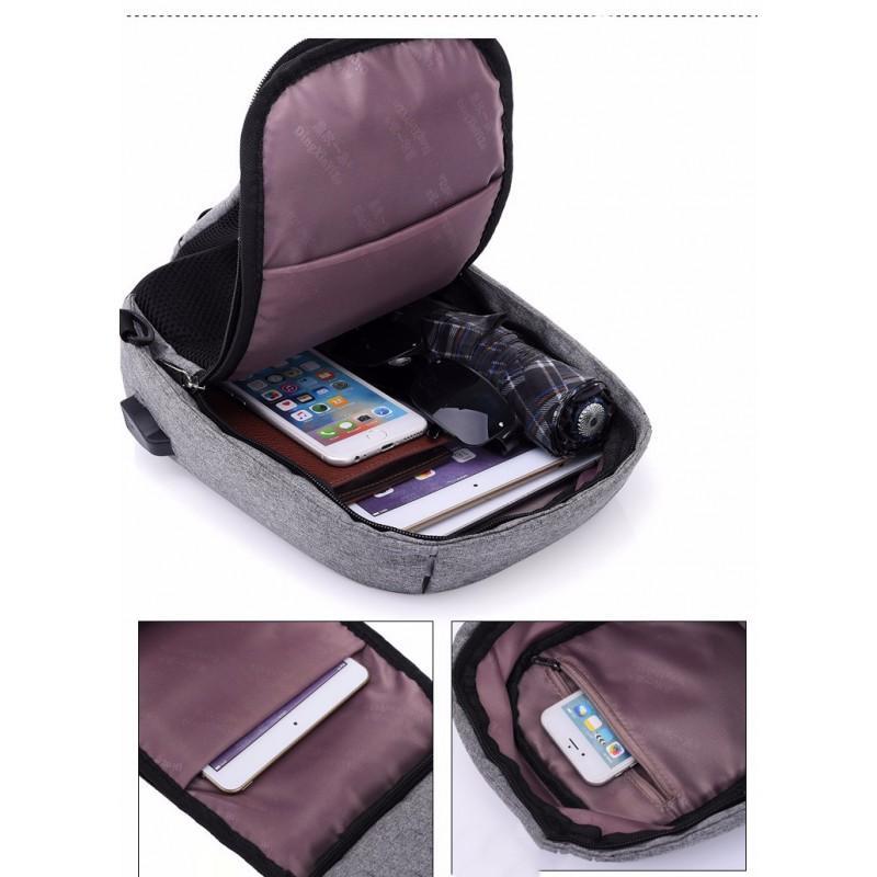 Городской рюкзак-антивор Bobby Mini с защитой от карманников и USB-портом для зарядки: водонепроницаемый, защита от порезов 216040