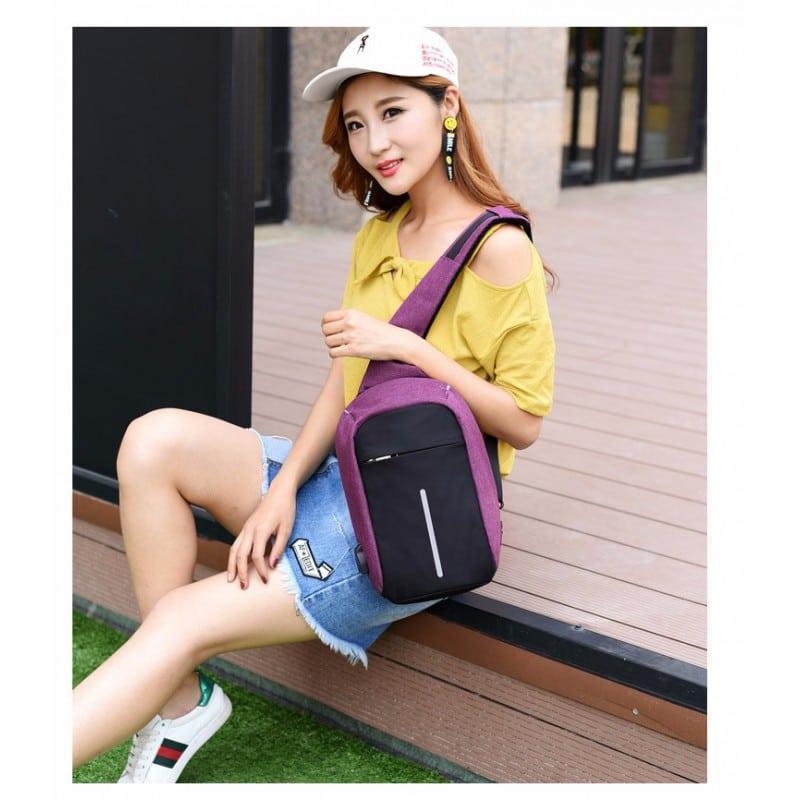 Городской рюкзак-антивор Bobby Mini с защитой от карманников и USB-портом для зарядки: водонепроницаемый, защита от порезов 216042