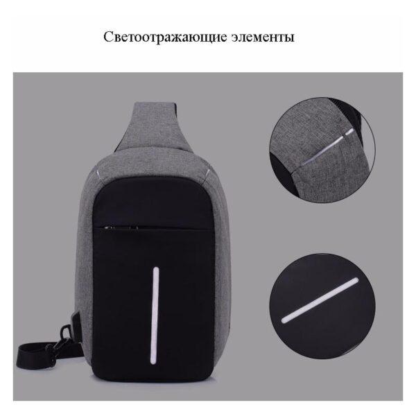 40599 - Городской рюкзак-антивор Bobby Mini с защитой от карманников и USB-портом для зарядки: водонепроницаемый, защита от порезов