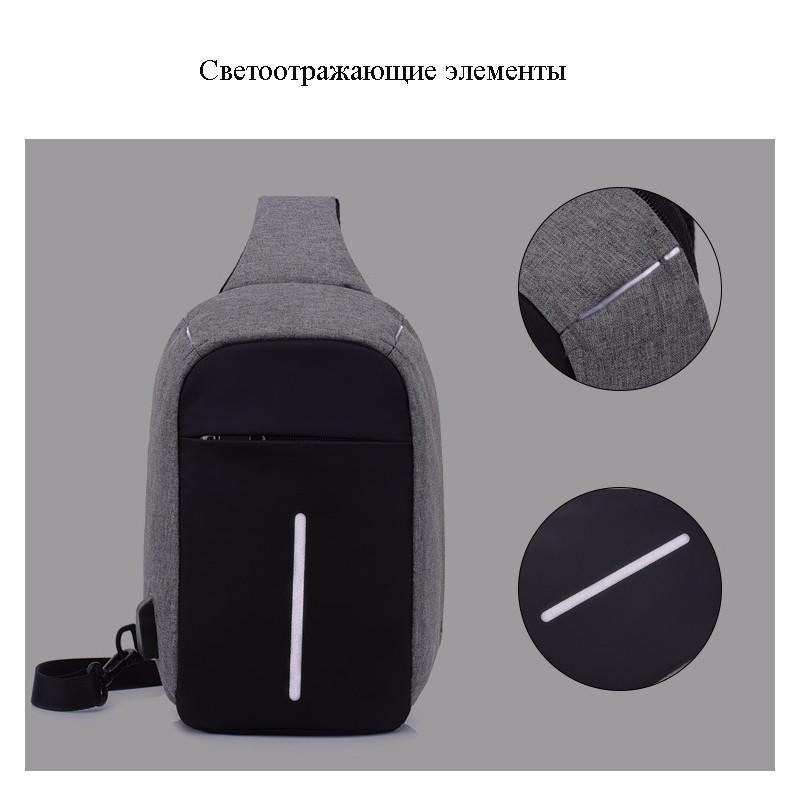 Городской рюкзак-антивор Bobby Mini с защитой от карманников и USB-портом для зарядки: водонепроницаемый, защита от порезов 216043
