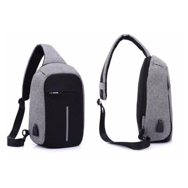 40600 - Городской рюкзак-антивор Bobby Mini с защитой от карманников и USB-портом для зарядки: водонепроницаемый, защита от порезов