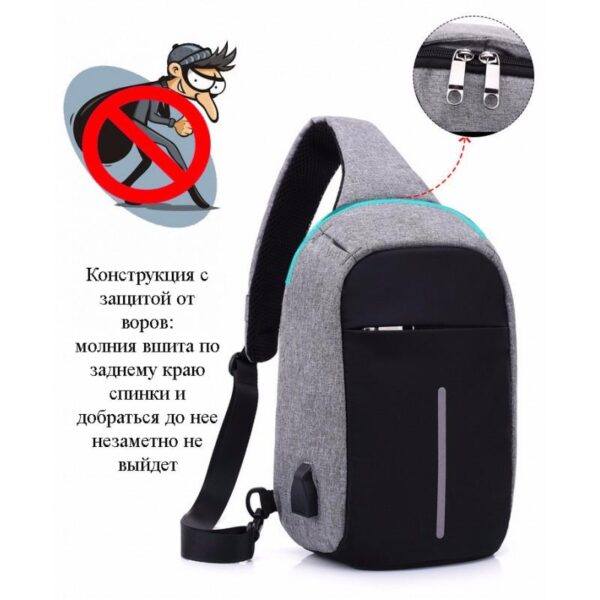 40601 - Городской рюкзак-антивор Bobby Mini с защитой от карманников и USB-портом для зарядки: водонепроницаемый, защита от порезов