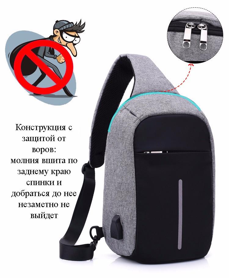 40601 - Міський рюкзак-протикрадій Bobby Mini з захистом від кишенькових злодіїв і USB-портом для заряджання: водонепроникний, захист від порізів