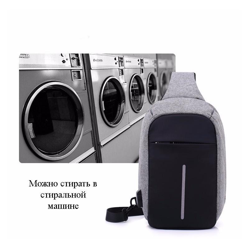 Городской рюкзак-антивор Bobby Mini с защитой от карманников и USB-портом для зарядки: водонепроницаемый, защита от порезов 216046