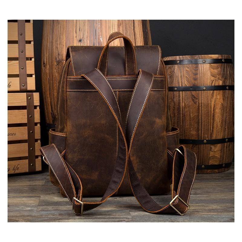 Рюкзак Mantime May из натуральной кожи Crazy Horse (первый слой) 216048