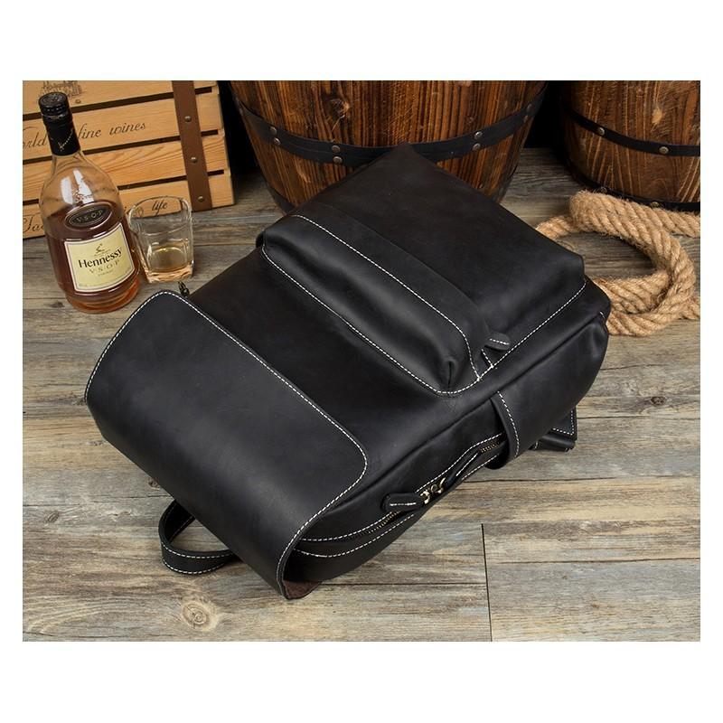 Рюкзак Mantime May из натуральной кожи Crazy Horse (первый слой) 216050