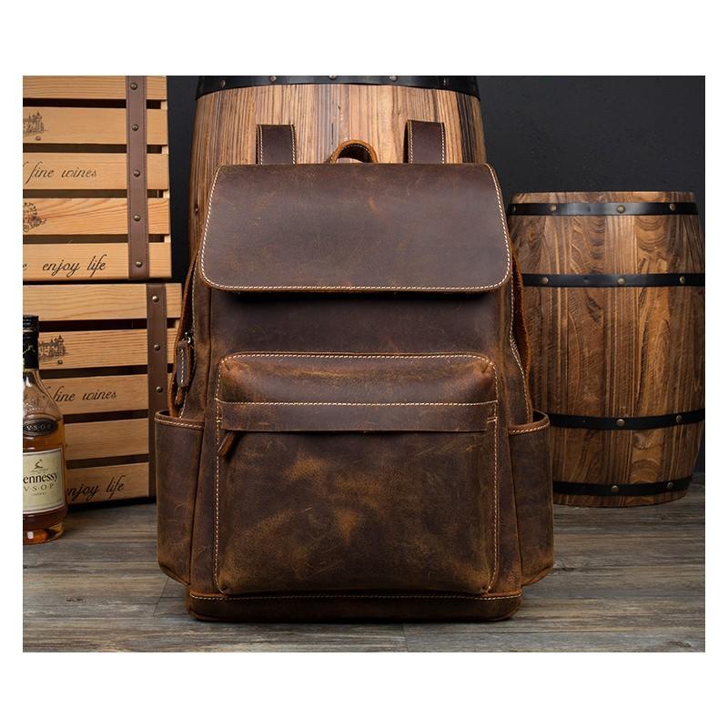 Рюкзак Mantime May из натуральной кожи Crazy Horse (первый слой) 216056