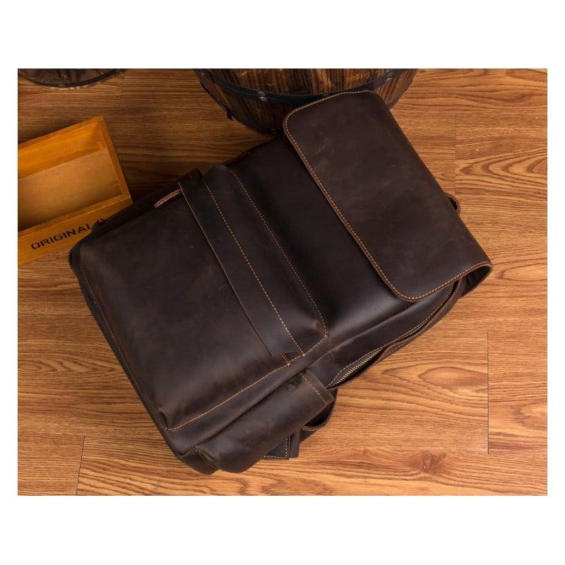 Рюкзак Mantime May из натуральной кожи Crazy Horse (первый слой) 216057