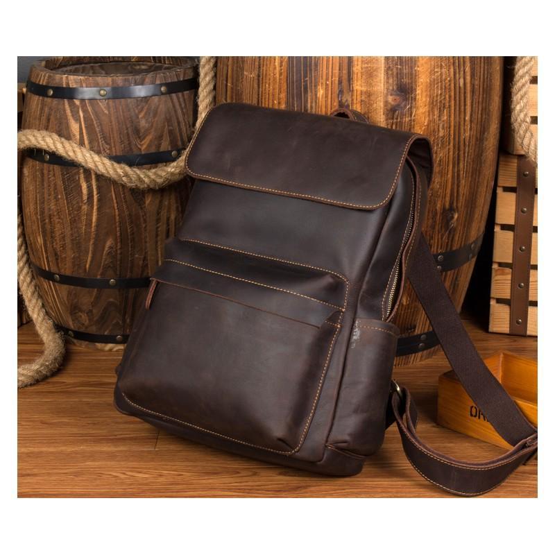 Рюкзак Mantime May из натуральной кожи Crazy Horse (первый слой) 216061