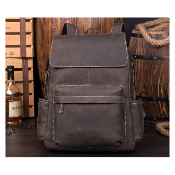 40622 - Рюкзак Mantime May из натуральной кожи Crazy Horse (первый слой)