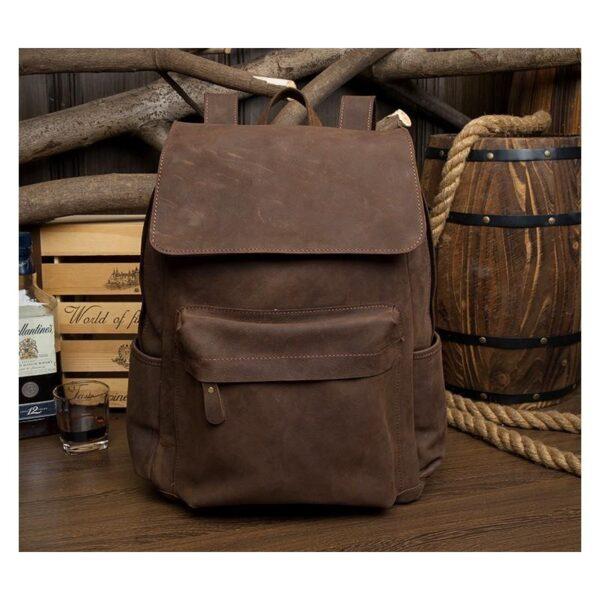 40624 - Рюкзак Mantime May из натуральной кожи Crazy Horse (первый слой)