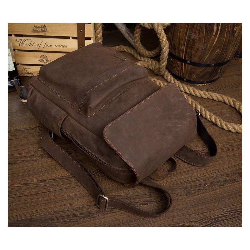 Рюкзак Mantime May из натуральной кожи Crazy Horse (первый слой) 216066