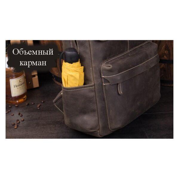 40631 - Рюкзак Mantime May из натуральной кожи Crazy Horse (первый слой)