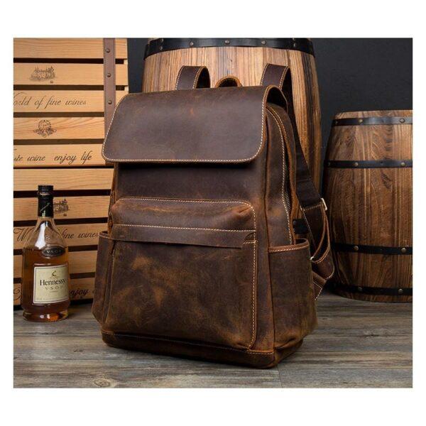 40635 - Рюкзак Mantime May из натуральной кожи Crazy Horse (первый слой)