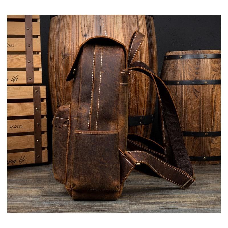 Рюкзак Mantime May из натуральной кожи Crazy Horse (первый слой) 216092