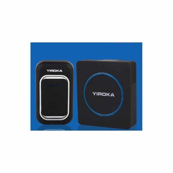 40745 - Беспроводной дверной звонок YIROKA A-289 (черный): 48 мелодий, 4 уровня громкости, 260 м диапазон