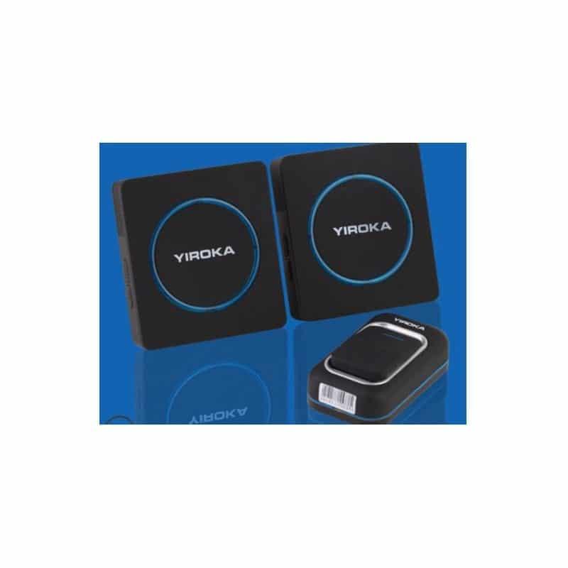 Беспроводной дверной звонок YIROKA A-289 (черный): 48 мелодий, 4 уровня громкости, 260 м диапазон