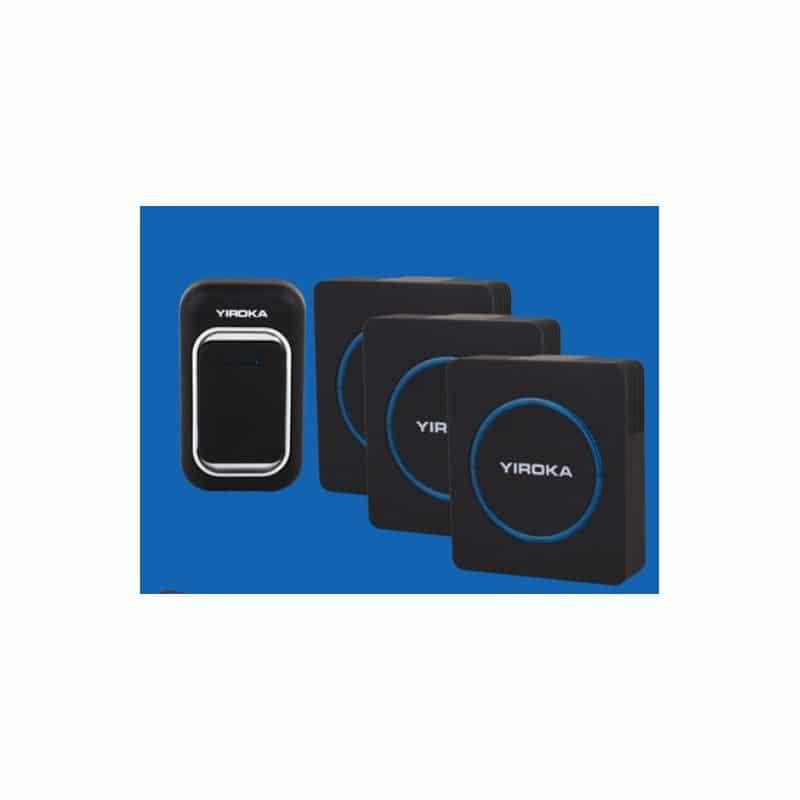 Беспроводной дверной звонок YIROKA A-289 (черный): 48 мелодий, 4 уровня громкости, 260 м диапазон 216123