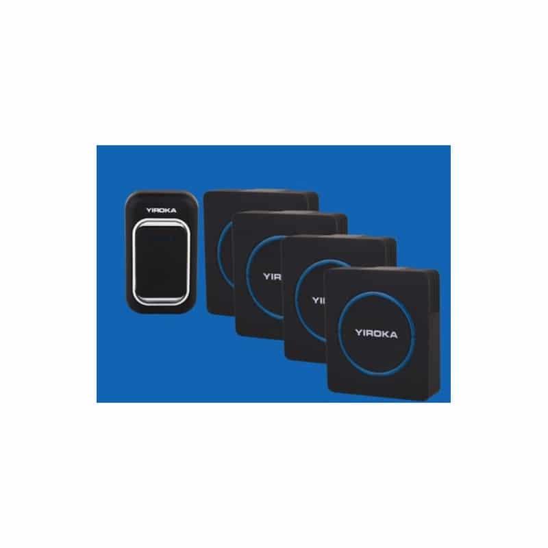 Беспроводной дверной звонок YIROKA A-289 (черный): 48 мелодий, 4 уровня громкости, 260 м диапазон 216124