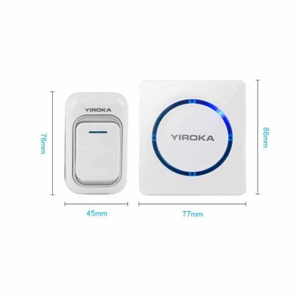 40762 - Беспроводной дверной звонок YIROKA A-289 (белый): 48 мелодий, 4 уровня громкости, 260 м диапазон
