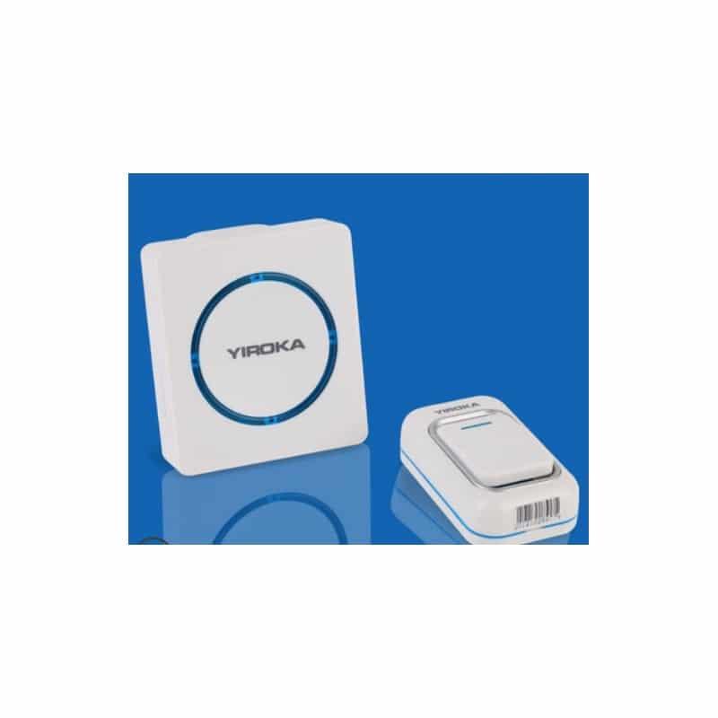 Беспроводной дверной звонок YIROKA A-289 (белый): 48 мелодий, 4 уровня громкости, 260 м диапазон - 1 передатчик + 1 приемник