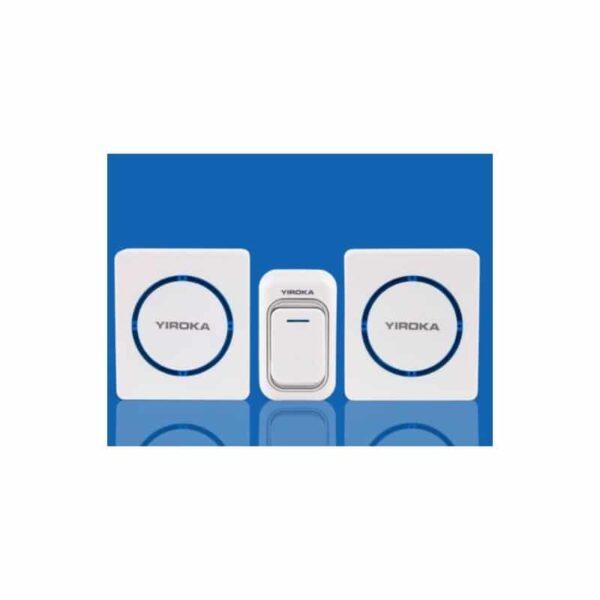 40771 - Беспроводной дверной звонок YIROKA A-289 (белый): 48 мелодий, 4 уровня громкости, 260 м диапазон