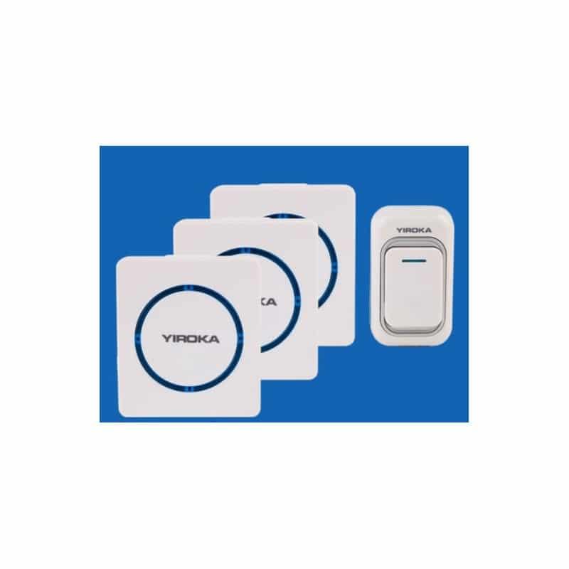 Беспроводной дверной звонок YIROKA A-289 (белый): 48 мелодий, 4 уровня громкости, 260 м диапазон 216157
