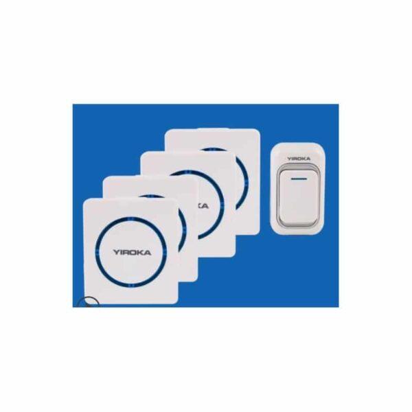 40773 - Беспроводной дверной звонок YIROKA A-289 (белый): 48 мелодий, 4 уровня громкости, 260 м диапазон