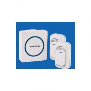 Беспроводной дверной звонок YIROKA A-289 (белый): 48 мелодий, 4 уровня громкости, 260 м диапазон