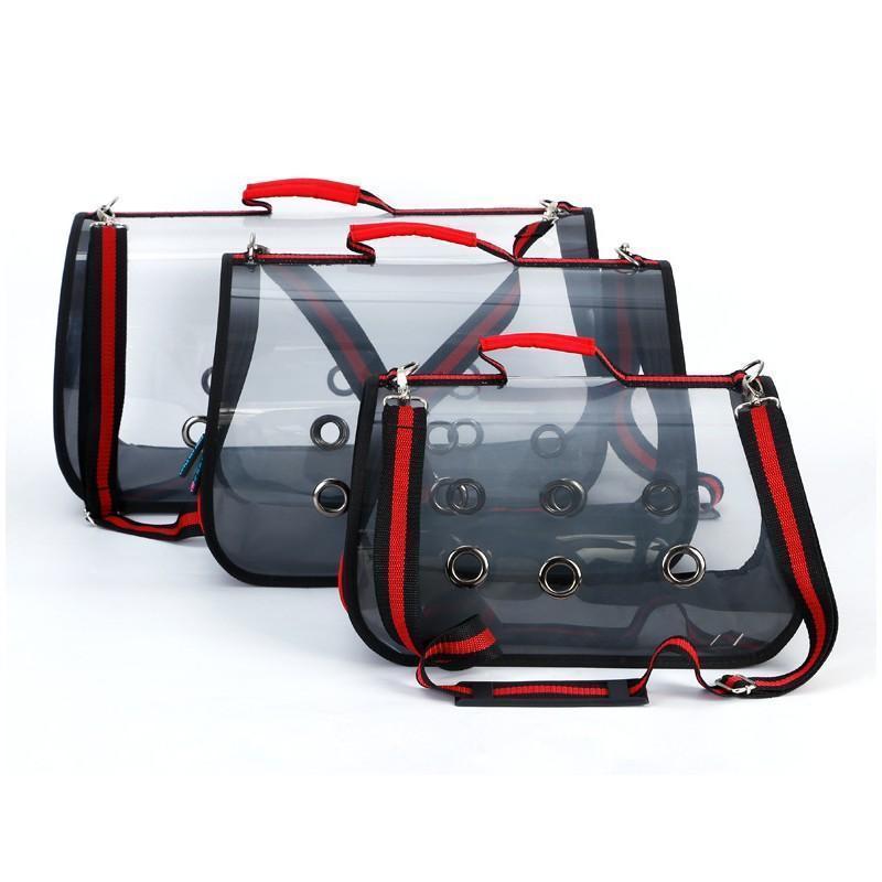 Прозрачная сумка-переноска Pet Travel для собак, кошек и других питомцев: размеры S, M, L, до 30 кг веса 216168
