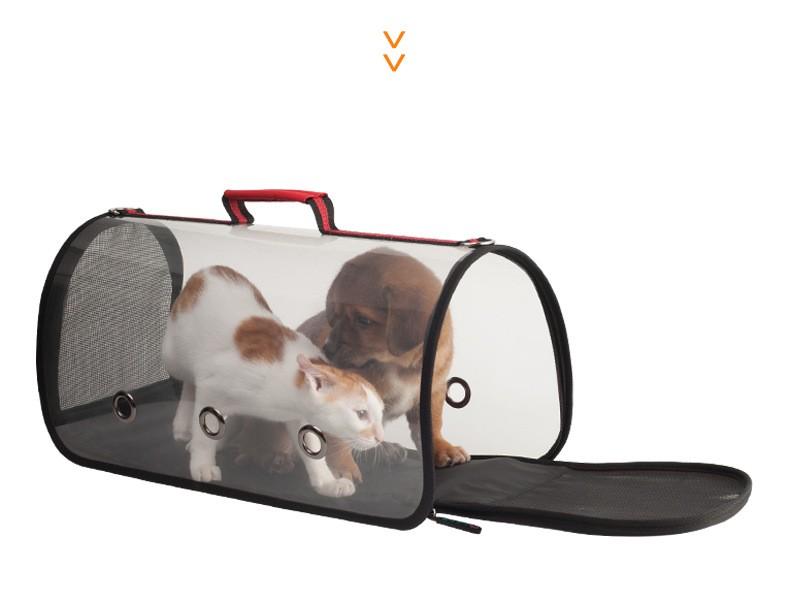 88504b2ff50d 40788 - Комплект: Прозрачная сумка-переноска Pet Travel для собак, кошек и  портативная