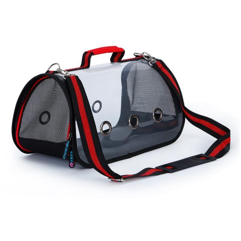 Прозрачная сумка-переноска Pet Travel для собак, кошек и других питомцев: размеры S, M, L, до 30 кг веса 216173