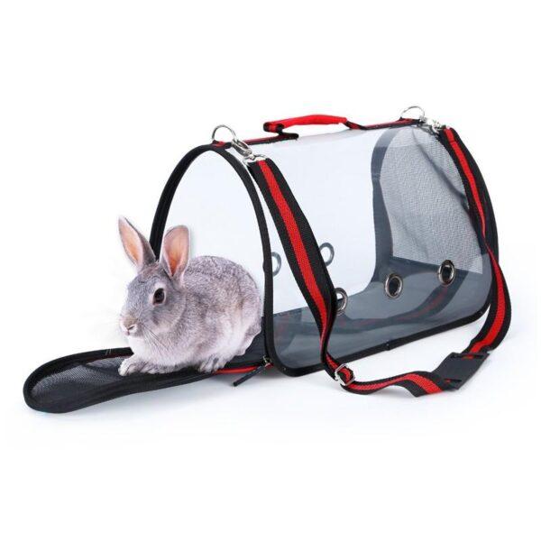 40798 - Комплект: Прозрачная сумка-переноска Pet Travel для собак, кошек и портативная дорожная поилка-кормушка Doggy Travel
