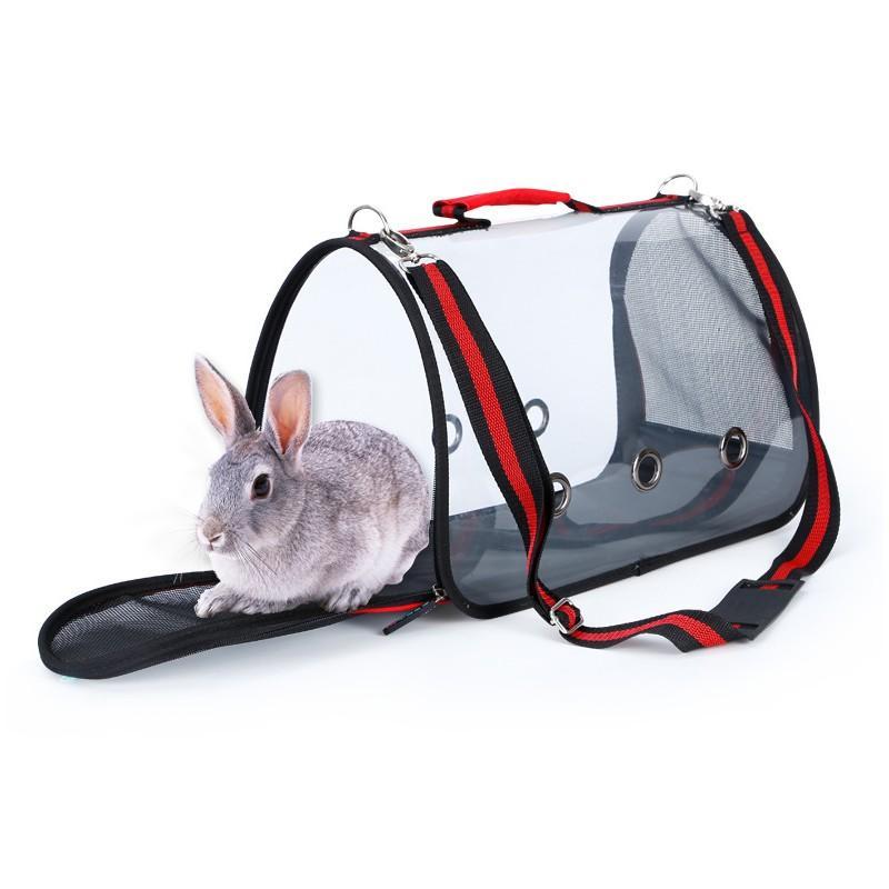 Комплект: Прозрачная сумка-переноска Pet Travel для собак, кошек и портативная дорожная поилка-кормушка Doggy Travel 216181