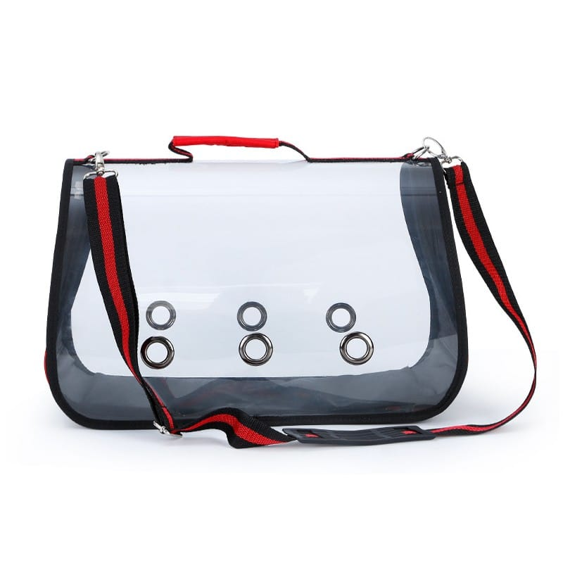 Комплект: Прозрачная сумка-переноска Pet Travel для собак, кошек и портативная дорожная поилка-кормушка Doggy Travel 216183