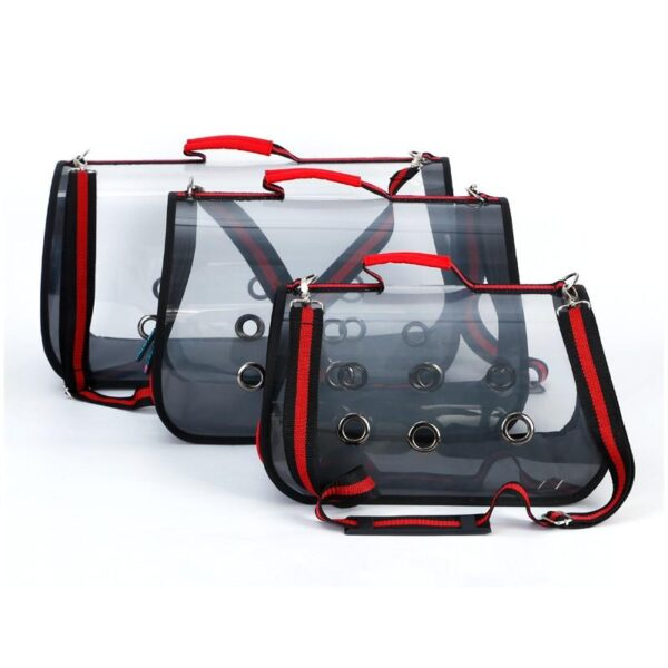 40802 - Комплект: Прозрачная сумка-переноска Pet Travel для собак, кошек и портативная дорожная поилка-кормушка Doggy Travel