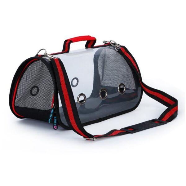 40807 - Комплект: Прозрачная сумка-переноска Pet Travel для собак, кошек и портативная дорожная поилка-кормушка Doggy Travel