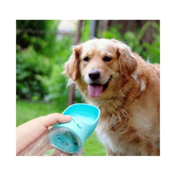40810 - Комплект: Прозрачная сумка-переноска Pet Travel для собак, кошек и портативная дорожная поилка-кормушка Doggy Travel