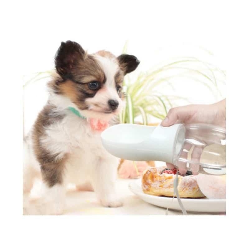 Комплект: Прозрачная сумка-переноска Pet Travel для собак, кошек и портативная дорожная поилка-кормушка Doggy Travel 216195