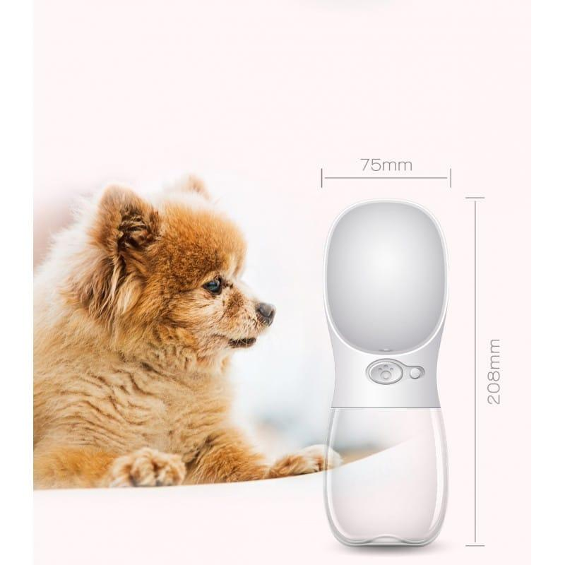 Комплект: Прозрачная сумка-переноска Pet Travel для собак, кошек и портативная дорожная поилка-кормушка Doggy Travel 216206