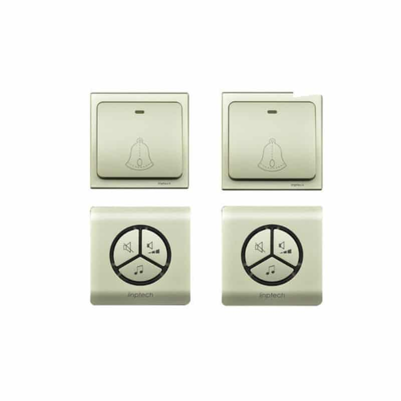 Водонепроницаемый беспроводной дверной звонок LinBell G1 (золото): без батареек, 25 мелодий, 3 уровня громкости, 80 м, IPx7 216212